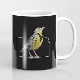 Kansas – Western Meadowlark (Black) Coffee Mug