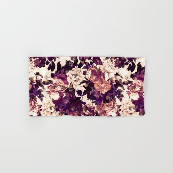 Watercolors Floral Pattern Hand & Bath Towel