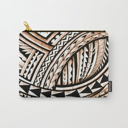 Polynesian Tapa Pattern Carry-All Pouch