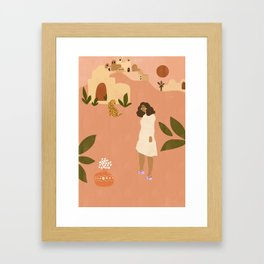 I want to go to Marrakech Framed Art Print
