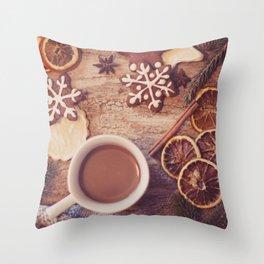 Cookies & tea Throw Pillow