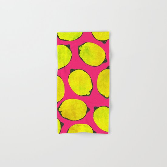 Lemon pattern Hand & Bath Towel