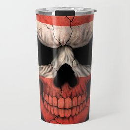 Dark Skull with Flag of Austria Travel Mug