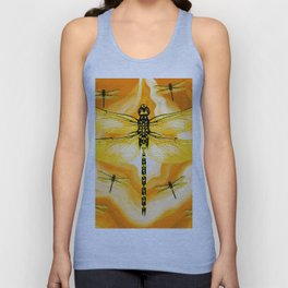 DRAGONFLY IN AGATE Unisex Tank Top