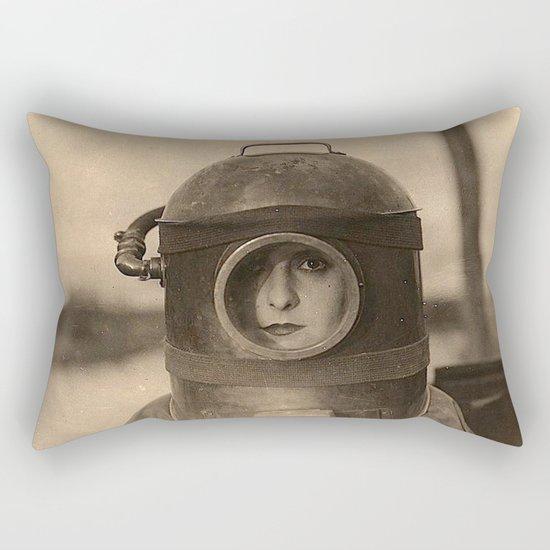 Scaphandre vintage photo Rectangular Pillow