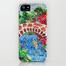 Pointalism Pond iPhone Case