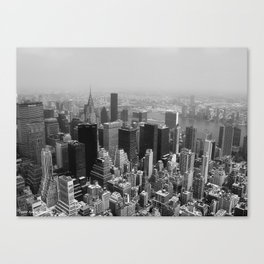 New York City Black and White Canvas Print