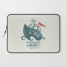 Brave small boat print Laptop Sleeve