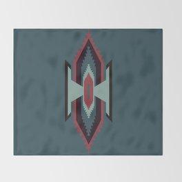 Southwestern Santa Fe Tribal Pattern Throw Blanket