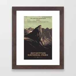 Auyuittuq National Park Framed Art Print