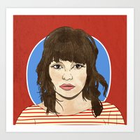 chvrches Art Prints featuring Lauren Mayberry by Marcelo Romero