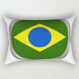 brazil flag Rectangular Pillow