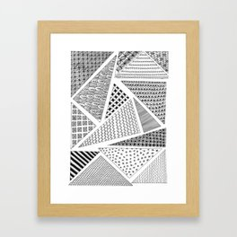 Triangle Zentagle Pattern Framed Art Print