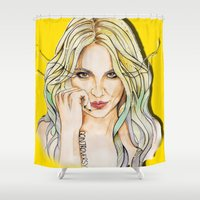 nicki Shower Curtains featuring BRITNEY YELLOWNEY by CARLOS CASANOVA