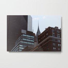 Chrysler Building Obscured Metal Print