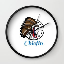 Chiefin Wall Clock