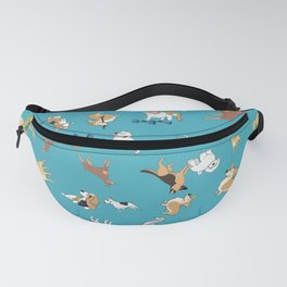 Scattered Cartoon Dogs Fanny Pack