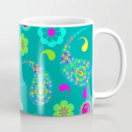 Green Paisley № 5 Coffee Mug