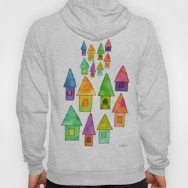 Home Sweet Home house illustration holiday gift family parents housewarming gift grandparents Hoody
