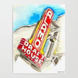 Alamo Drafthouse watercolor Poster