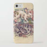 bunny iPhone & iPod Cases featuring Dust Bunny by Kate O'Hara Illustration