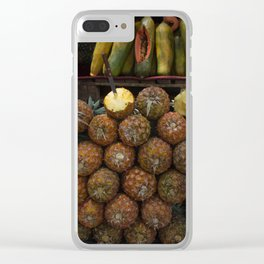 Guatemalan Market Pineapple Sale Clear iPhone Case