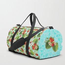 Botanical Strawberries Duffle Bag