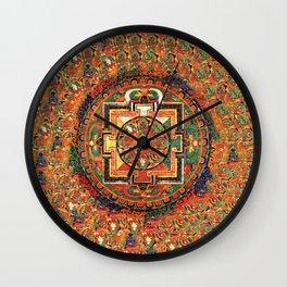 Buddhist Kalachakra Mandala DMT Vision Wall Clock