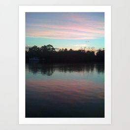 Sleeping on the lake Art Print