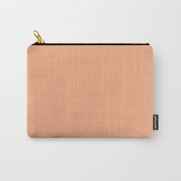 Colors of Autumn Light Apricot Orange Solid Color Carry-All Pouch