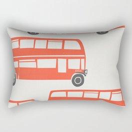 London Double Decker Red Bus Rectangular Pillow