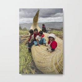 Titicaca lake Uros Metal Print