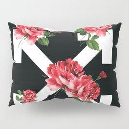 Broken Roses Off White Cross Arrows Pillow Sham