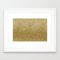 gold glitter Framed Art Prints featuring .::Gold Glitter::. by MartiniWithATwist