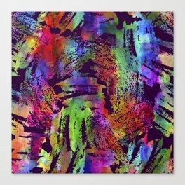 Rainbow cool brush Canvas Print