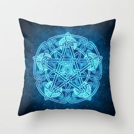Celtic Moon Celestial Pentacle Throw Pillow