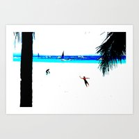 Borocay Beach Dive - Happy Place Art Print