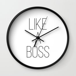 Industrial Home Decor, Like a Boss, Wall Art, Minimalist Typography, Affiche Scandinave, Loft Decor Wall Clock