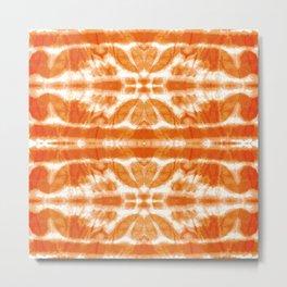Orange Tie-Dye Twos Metal Print
