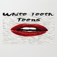lorde Area & Throw Rugs featuring White Teeth Teens // Lorde  by Fan Merch