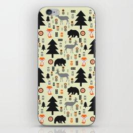 Winter bears, foxes and deer iPhone Skin