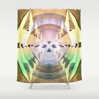 compass Shower Curtains featuring Compass by Capital Knight