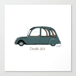 Citroën 2CV Canvas Print
