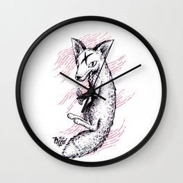 Graphic Fox Wall Clock