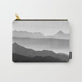 Mountains fog. Sunset Carry-All Pouch