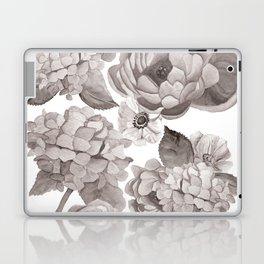 Black and White Flowers Laptop & iPad Skin