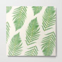 Fern on Cream III - Botanical Print Metal Print