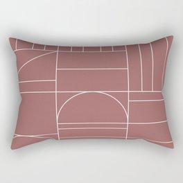 Deco Geometric 04 Dark Pink Rectangular Pillow