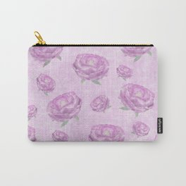 Watercolour pink peonies Carry-All Pouch