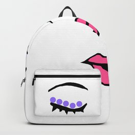 Style Girl - Face - Doodle Art - Pink Backpack